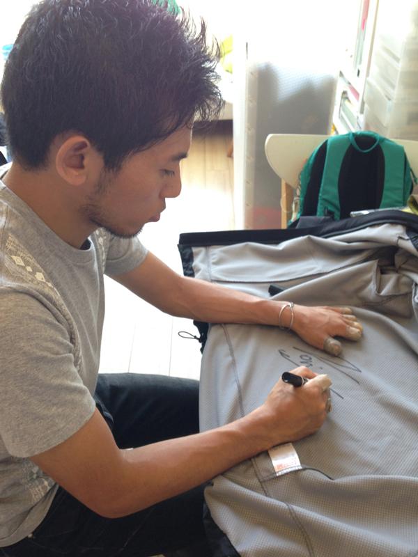 [チャリティ]Millet栗城モデルジャケット(栗城さんのサイン入)2