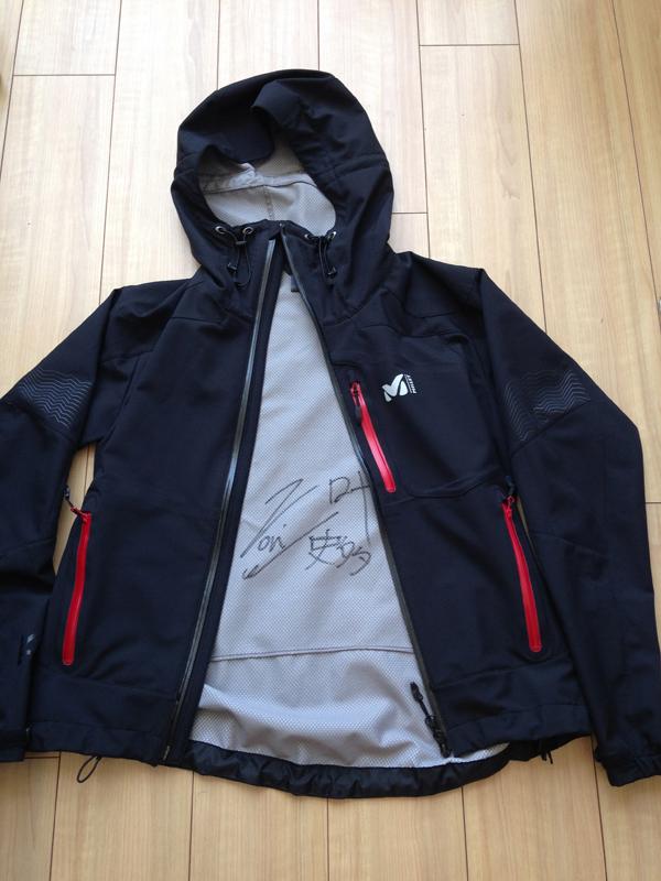 [チャリティ]Millet栗城モデルジャケット(栗城さんのサイン入)3
